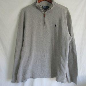 Polo Ralph Lauren Gray 1/2 Zip Sweater XXL